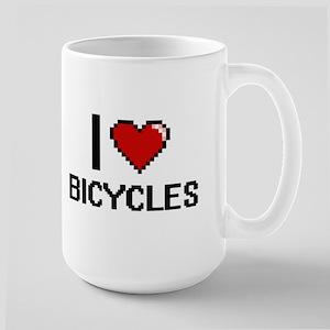 I Love Bicycles Digitial Design Mugs
