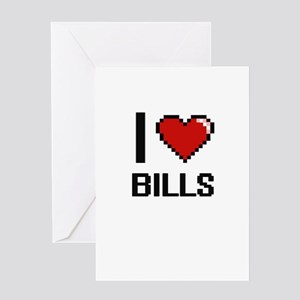 I Love Bills Digitial Design Greeting Cards