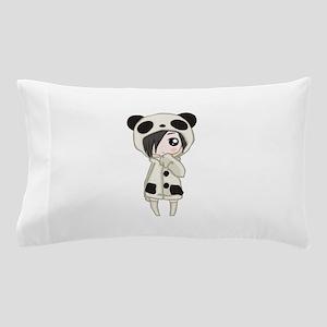 Kawaii Panda Girl Pillow Case