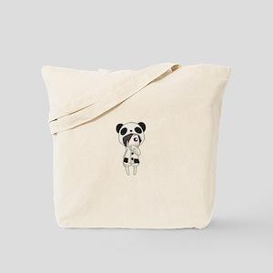 Kawaii Panda Girl Tote Bag