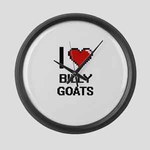 I Love Billy Goats Digitial Desig Large Wall Clock