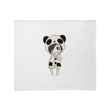 Kawaii Panda Girl Throw Blanket By AdminCP40 Inspiration Kawaii Throw Blanket