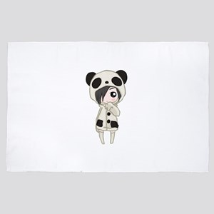 Kawaii Panda Girl 4' x 6' Rug