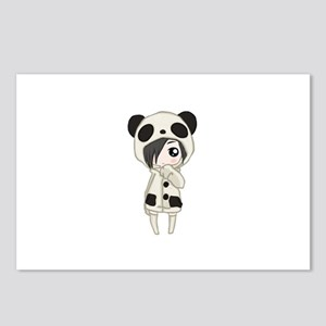 Kawaii Panda Girl Postcards (Package of 8)