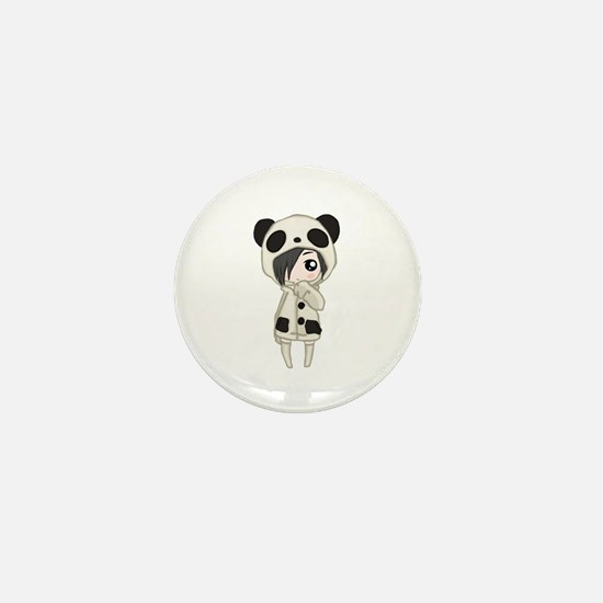 Kawaii Panda Girl Mini Button