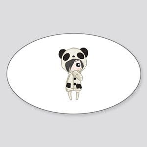 Kawaii Panda Girl Sticker