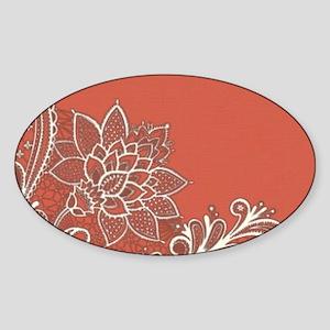 mandarin pink white lace Sticker