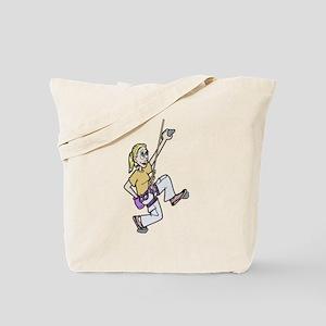 Girl Climbing Tote Bag