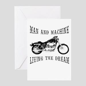Man & Machine Greeting Cards