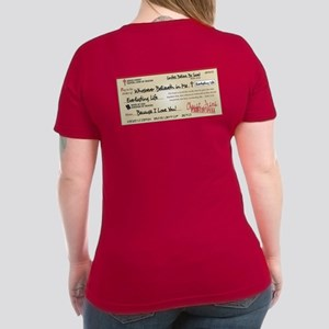 Paid in Full Women's V-Neck Dark T-Shirt