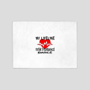 My Lifeline Irish Step dance 5'x7'Area Rug