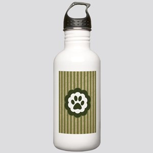 vintage pet paw Water Bottle