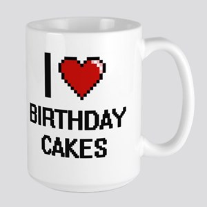 I Love Birthday Cakes Digitial Design Mugs