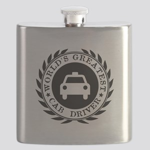 World's Greatest Cab Driver Flask