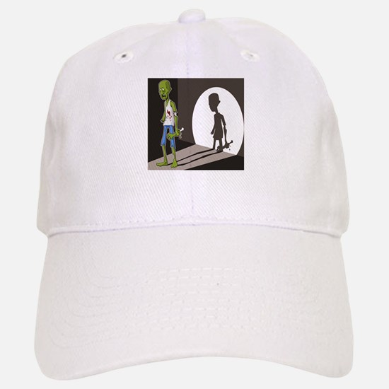 Zombie In Spotlight Baseball Baseball Cap