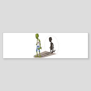 Cartoon Zombie Bumper Sticker