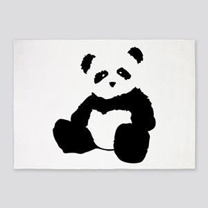 panda 5'x7'Area Rug