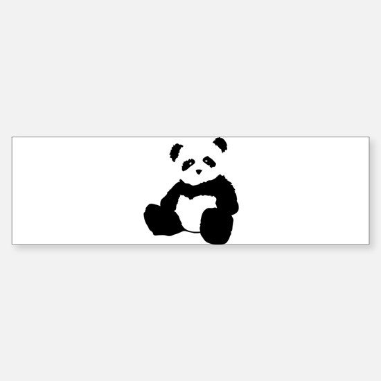 panda Bumper Car Car Sticker