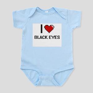 I Love Black Eyes Digitial Design Body Suit