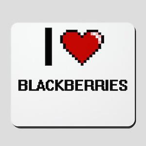 I Love Blackberries Digitial Design Mousepad