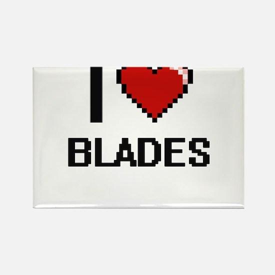 I Love Blades Digitial Design Magnets