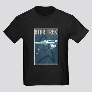 Retro Star Trek: TOS Poster Kids Dark T-Shirt