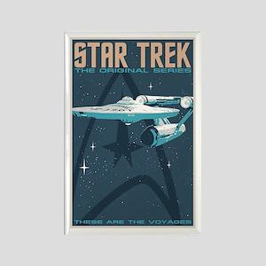 Retro Star Trek: TOS Poster Rectangle Magnet