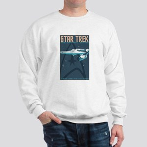 Retro Star Trek:TOS Poster Sweatshirt