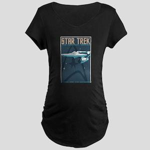 Retro Star Trek: TOS Poster Maternity Dark T-Shirt