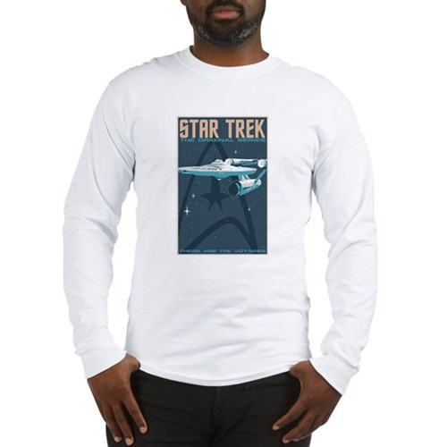 Retro Star Trek: TOS Poster Long Sleeve T-Shirt