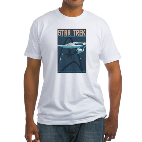 Retro Star Trek: TOS Poster Fitted T-Shirt