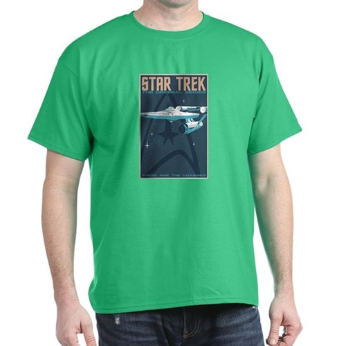 Retro Star Trek: TOS Poster Dark T-Shirt