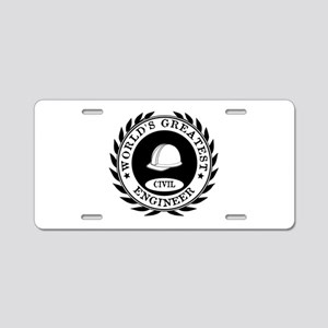 World's Greatest Civil Engineer Aluminum License P