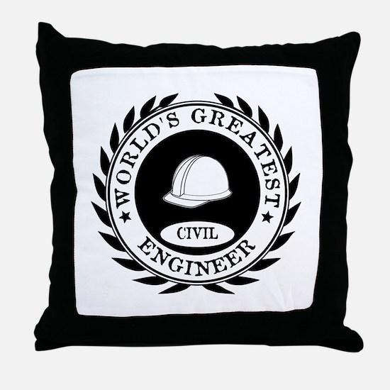 World's Greatest Civil Engineer Throw Pillow