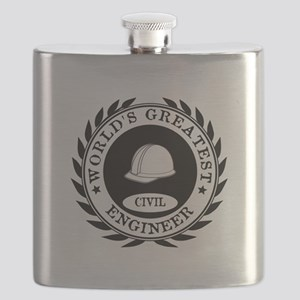 World's Greatest Civil Engineer Flask
