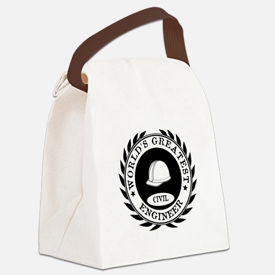 World's Greatest Civil Engineer Canvas Lunch Bag