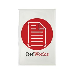 RefWorks Circle with Logo Rectangle Magnet (100)