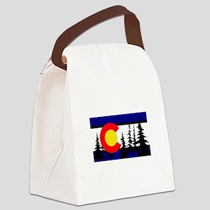 Colorado Trees2 Canvas Lunch Bag