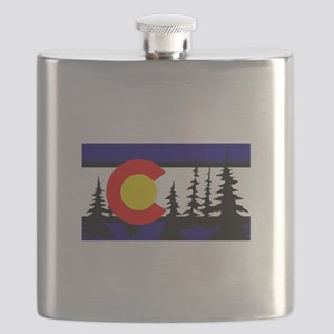 Colorado Trees2 Flask
