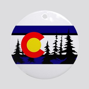 Colorado Trees2 Ornament (Round)