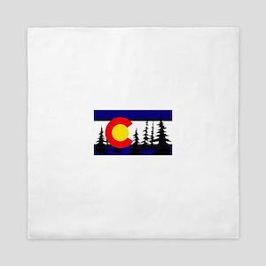 Colorado Trees2 Queen Duvet