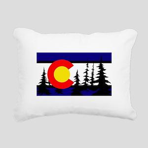 Colorado Trees2 Rectangular Canvas Pillow