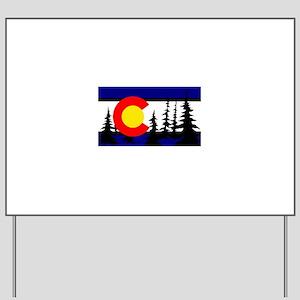 Colorado Trees2 Yard Sign