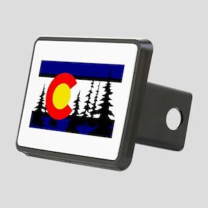 Colorado Trees2 Rectangular Hitch Cover