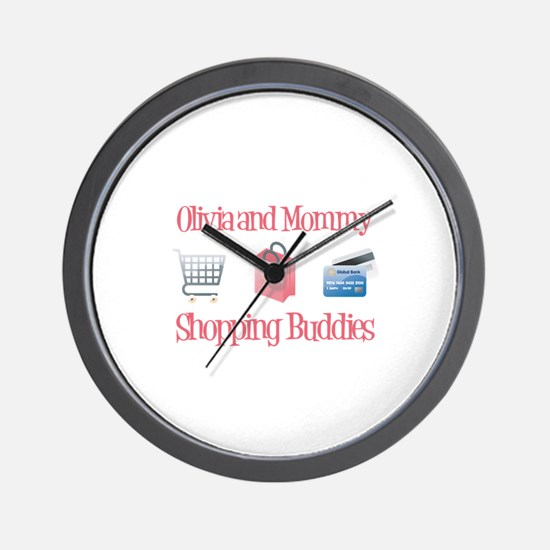 Olivia - Shopping Buddies Wall Clock