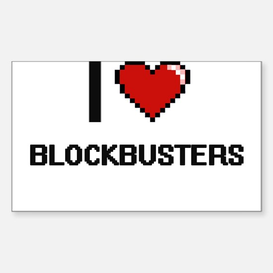 I Love Blockbusters Digitial Design Decal