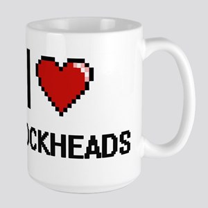 I Love Blockheads Digitial Design Mugs