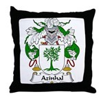 Azinhal Family Crest Throw Pillow