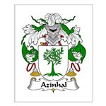 Azinhal Family Crest Small Poster