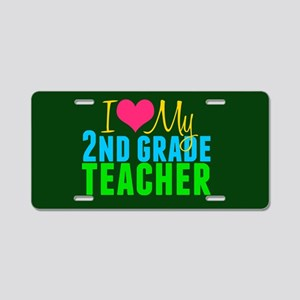 2nd Grade Teacher Aluminum License Plate